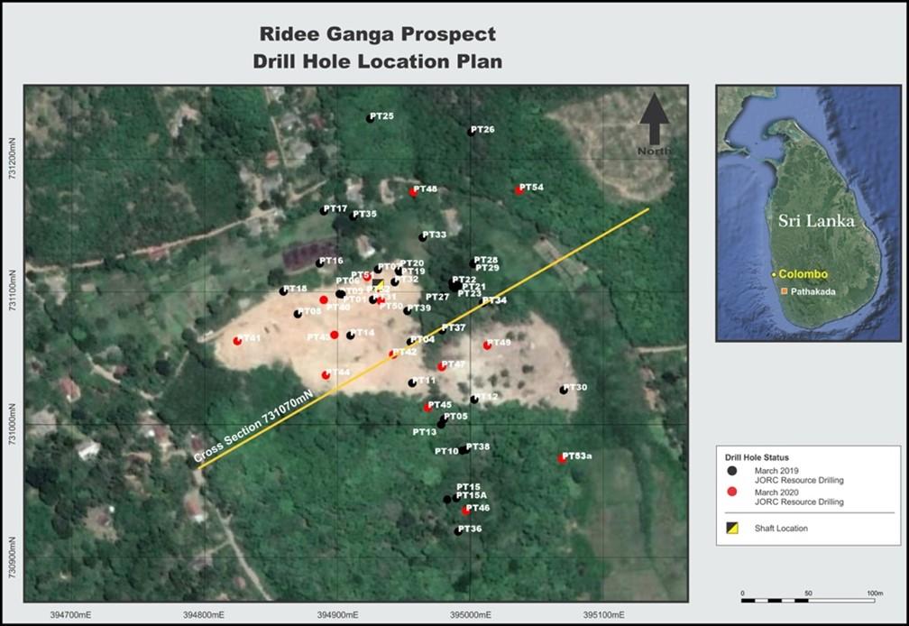 Drill Hole , Ridee Ganga Prospect