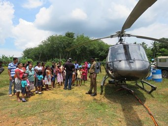 School visit, learning about helicopters
